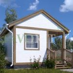 Каркасный дом 2,5х4 с террасой и верандой 1,5х2 – фото 1