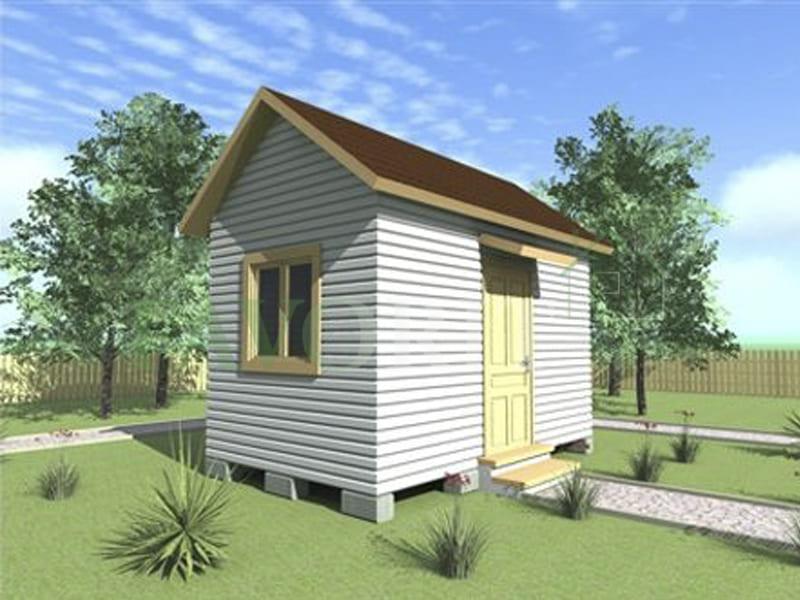 Каркасный дом 2,5х4 – фото проекта