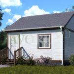 Каркасный дом 4х4 с верандой 1,5х4 – фото