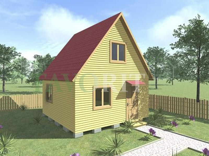 Двухэтажный каркасный дом 5х5 – фото 2