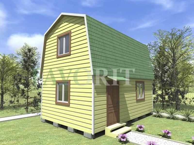Двухэтажный каркасный дом 5х6 – фото