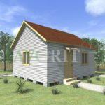 Одноэтажный каркасный дом 5х6 – фото