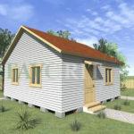 Одноэтажный каркасный дом 5х6 с верандой 1,5х6 – фото