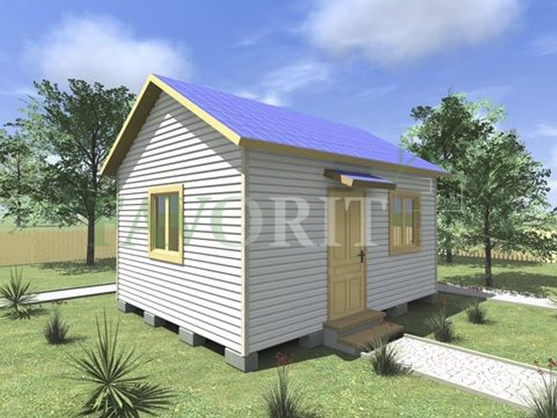 Одноэтажный каркасный дом 4х5 – фото
