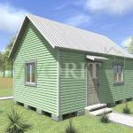 Одноэтажный каркасный дом 4х6 – фото