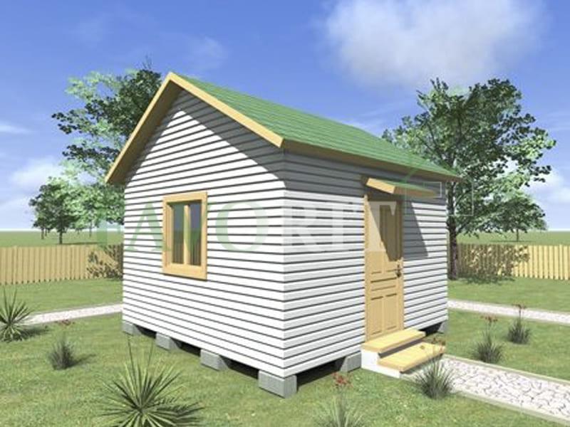 Одноэтажный каркасный дом 4х4 – фото